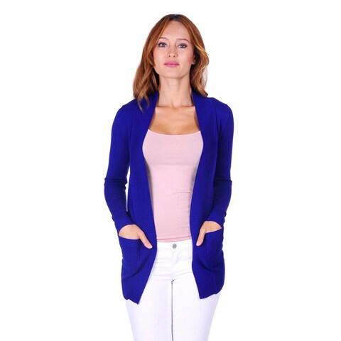 Simply Ravishing Women's Long Sleeve Open Knit Cardigan (Size: S - 2X)