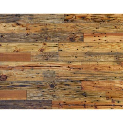 "Novogratz Reclaimed Barn Wood Wall Panels - DIY (13.3 Sq. Ft. of 5.1"" Wide Panels)"