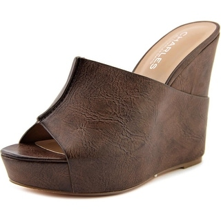 Charles By Charles David Alamo Women Open Toe Synthetic Brown Wedge Heel