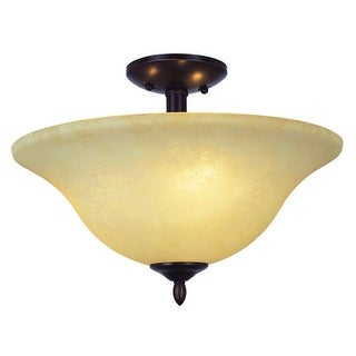 Trans Globe Lighting 8162 Two Light Down Lighting Semi Flush Ceiling from the New Century Collection