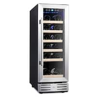 Kalamera KRC-18SZB 12'' Built-in Wine Cooler Chiller Refrigerator 18-bottle Stainless Steel Door Digital Temperature Control