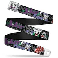 Joker Face Full Color The Joker Pose Cards Hahahaha Black Gray Webbing Seatbelt Belt
