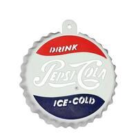 """3.25"""" Classic Pepsi-Cola Bottle Cap Logo Cut-Out Christmas Ornament"""