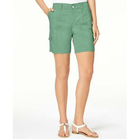 Style & Co Women's Comfort Waist Cargo Shorts Sweet Mint Size 18 - Green