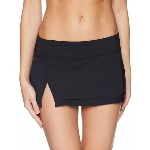 Jantzen Deep Black Womens Size Large L Slit-Hem Swimwear Skirt