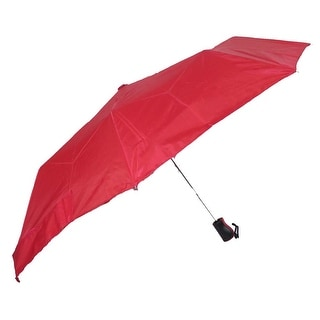Raines by Totes Automatic Red Umbrella with Medium Coverage