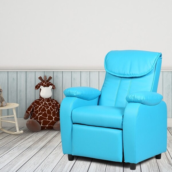 Costway Kid Recliner Sofa Armrest Chair Couch Children Living Room Furniture Home Blue