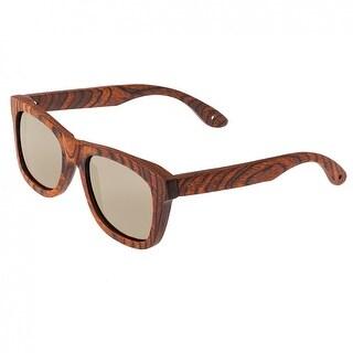Spectrum Peralta Unisex Wood Sunglasses - 100% UVA/UVB Prorection - Polarized/Gradient Lens - Multi