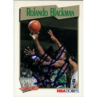 Signed Blackman Rolando Dallas Mavericks 1991 NBA Hoops Basketball Card autographed