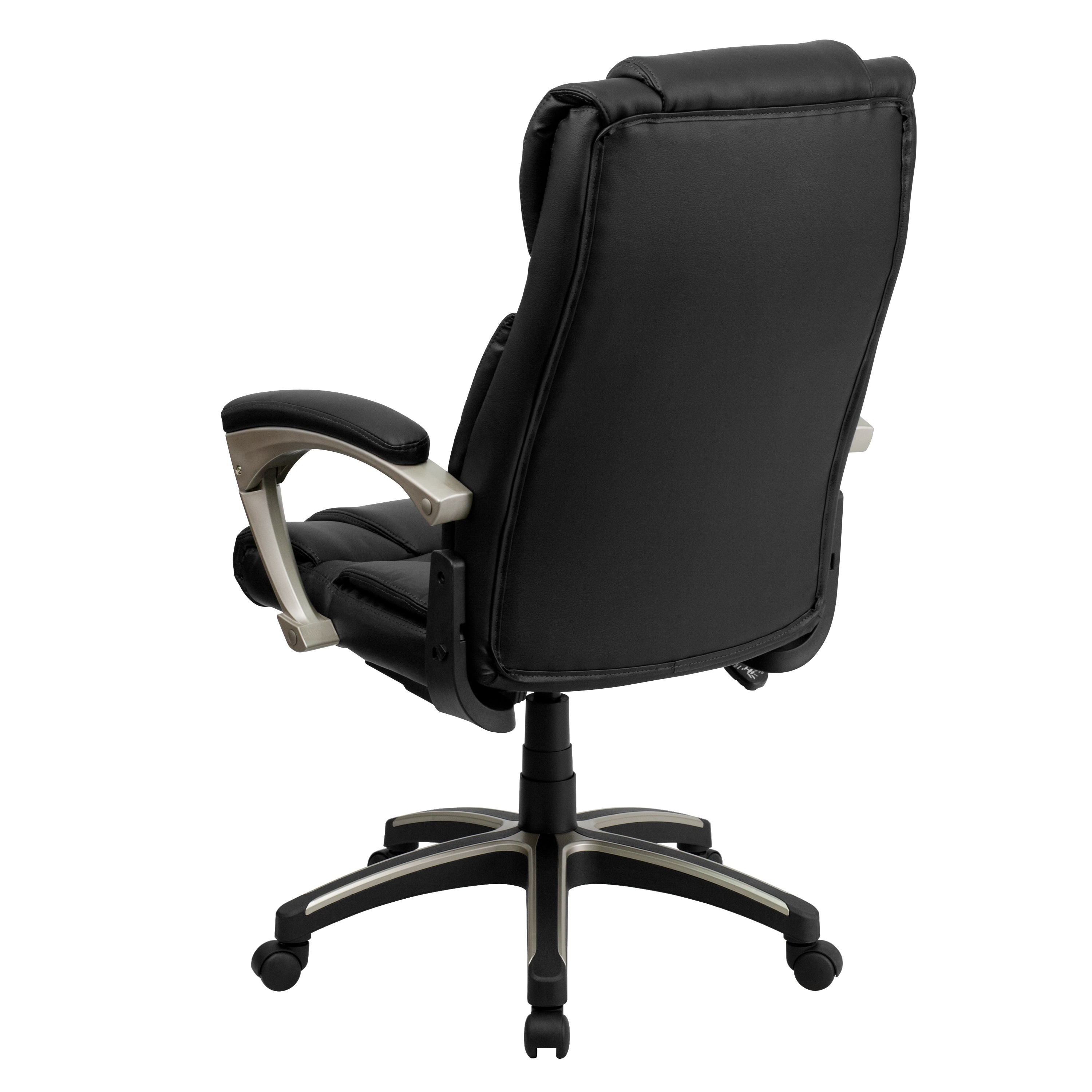 Picture of: High Back Folding Black Leathersoft Executive Swivel Office Chair With Arms Overstock 10125415