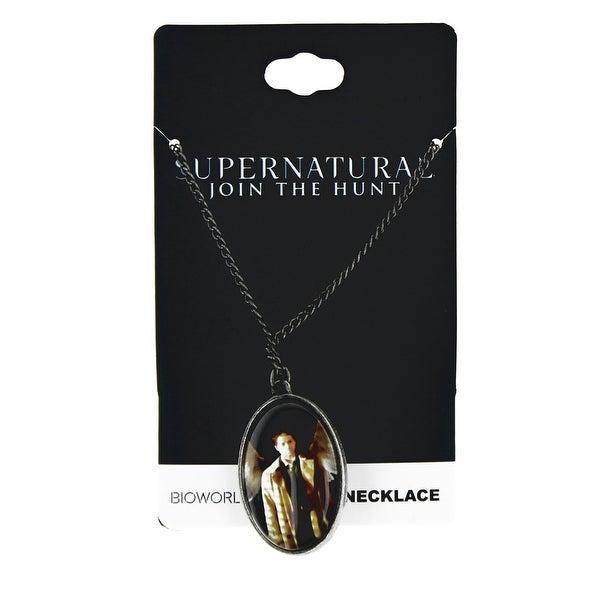 Supernatural Castiel w/ Wings Cameo Necklace