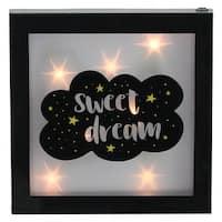 """9"""" B/O LED """"Sweet Dream"""" Framed Light Box - Black"""