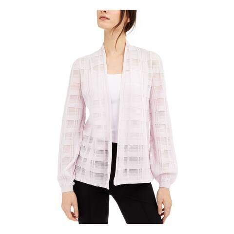 ALFANI Purple Cotton Long Sleeve Sweater XXL