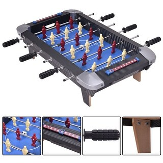 Costway Miniature 28'' Table Foosball Football Soccer Game Competition Sports Indoor - Red