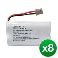 Replacement For Uniden BT1015 Cordless Phone Battery (600mAh, 2.4V, Ni-MH) - 8 Pack