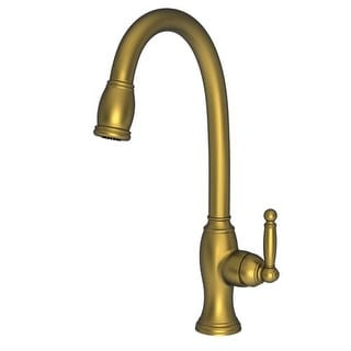 newport brass nadya single handle kitchen faucet with pulldown spray