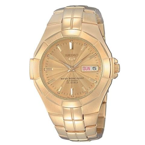 Seiko Men's SNZE32 'Seiko 5' Automatic Rose Gold-Tone Stainless Steel Watch - Rose-Tone