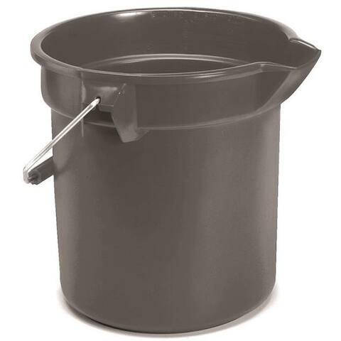 Rubbermaid FG296300GRAY Heavy Duty Round Bucket, 10 Quart