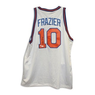 Walt Frazier New York Knicks Autographed White Throwback Jersey