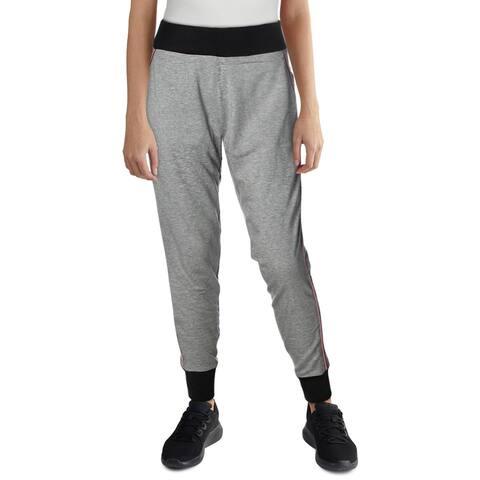 Splendid Women's Marled Colorblock Striped Trim Activewear Jogger Pants - Marled Black