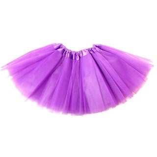 Baby Girls Purple Satin Elastic Waist Ballet Tutu Skirt 0-12M - 0-12 months