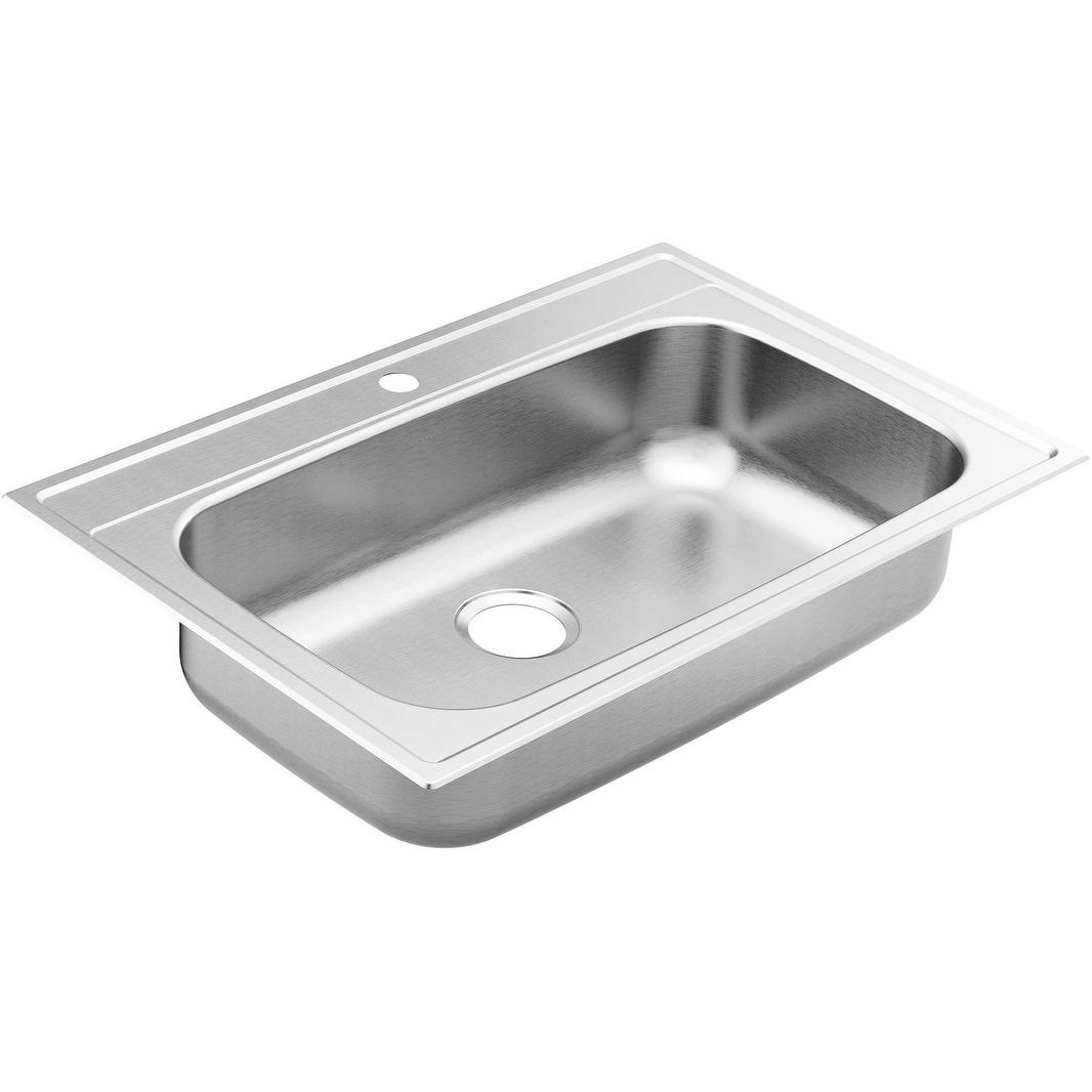 Moen Gs181631bq 1800 Series 33 Drop In Single Basin Stainless Steel Overstock 29571166