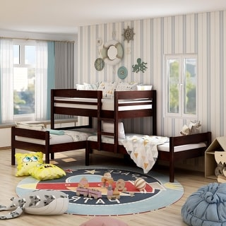 Link to Furniture of America Zend Contemporary Brown Twin 3-piece Bunk Bed Set Similar Items in Kids' & Toddler Furniture