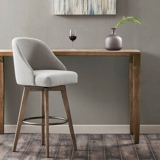 Link to Madison Park Walsh Grey Upholstered Bar Stool with Swivel Seat Similar Items in Dining Room & Bar Furniture