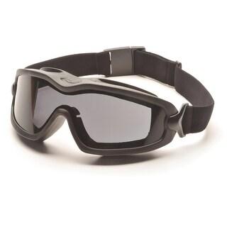 Pyramex V2G-Plus Goggles Black Strap/Gray Dual Af Lens - GB6420SDT