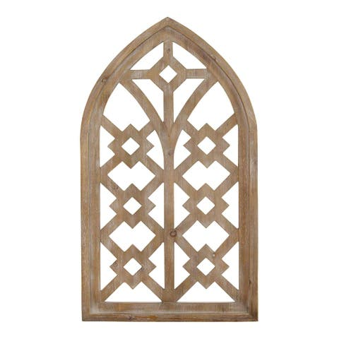 Distressed Home Wood Framed Arch Wall Art