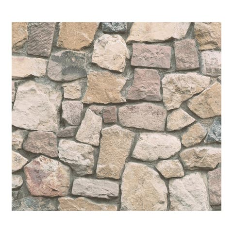 Morris Neutral Natural Stone Wallpaper - 20.9 x 396 x 0.025