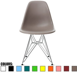 2xhome Designer Plastic Eiffel Chairs Chrome Silver Wire Legs