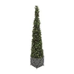 Deco 79 PVC Plastic Ivy Topiary & Metal Planter - Green