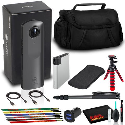Ricoh THETA V 360 4K Spherical VR Camera with Power Bank, Bag, Cables, and More