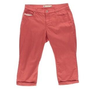 Levi's Womens Plus Denim Cuffed Capri Jeans - 16W