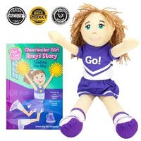 BrybellyHoldings  Cheerleader Girl Roxy Read & Play Doll And Book Set