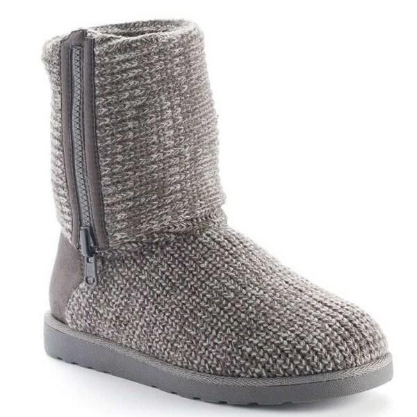 "SO Kappa Women's Knit Boots 11-1/2"" - 13-1/2"" - Grey"