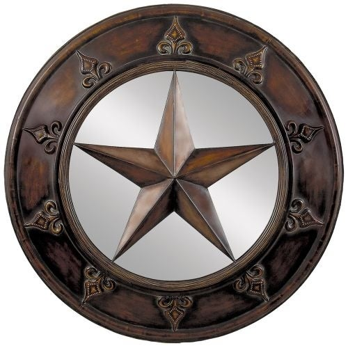 "Aspire Home Accents 75718 32"" Star Plaque Mirror"