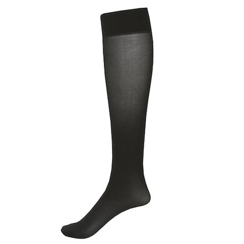 2 Pair Moderate Support Knee High Socks - 15-20 mmHg Compression - One Size