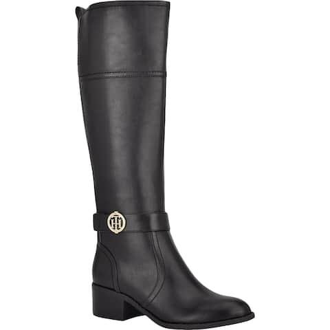 Tommy Hilfiger Womens TWDRYFT2 Knee-High Boots Knee-High Block Heel - Black Multi LL