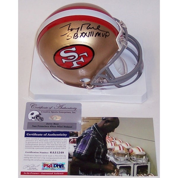 930974c2f Shop Jerry Rice Autographed Hand Signed 49ers Mini Helmet - PSA DNA - Free  Shipping Today - Overstock - 12785032