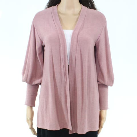 Chaser Womens Sweater Pink Size Small S Cardigan Balloon-Sleeve Flyaway