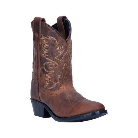 "Dan Post Western Boots Boys Bandito 8"" Shaft Round Toe Tan"