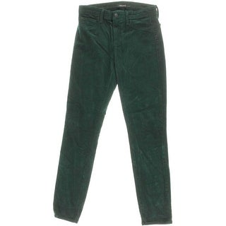 J Brand Womens Corduroy Mid-Rise Colored Skinny Jeans