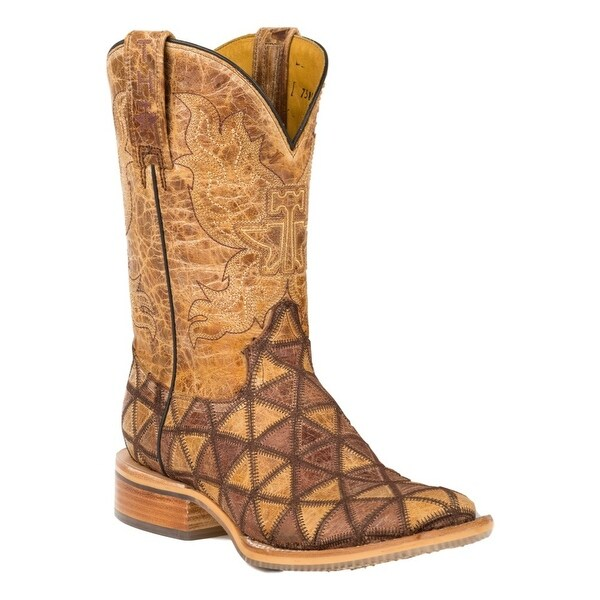 "Tin Haul Western Boots Womens 11"" Shaft Tan"