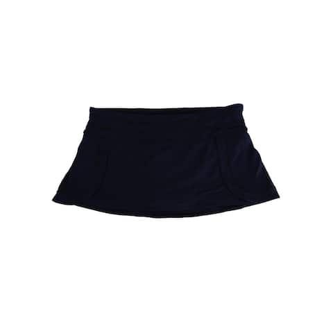 Jag Women's Seamed Mini Swim Skirt Swimsuit - Black/Noir