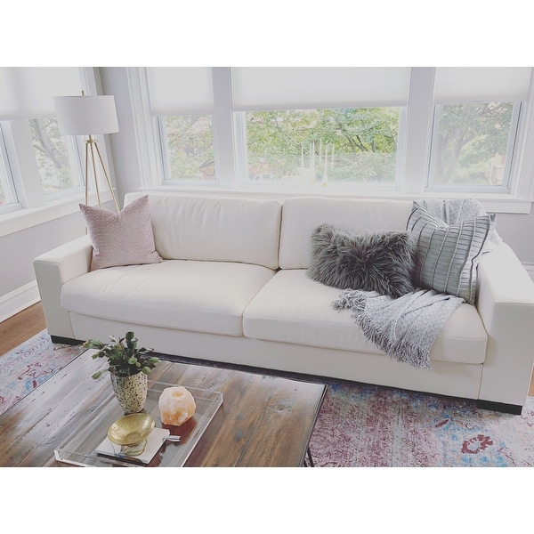 Lionel White Cotton Down Filled Extra Long Deep Seat Sofa By Inspire Q On Free Shipping Today 14046525
