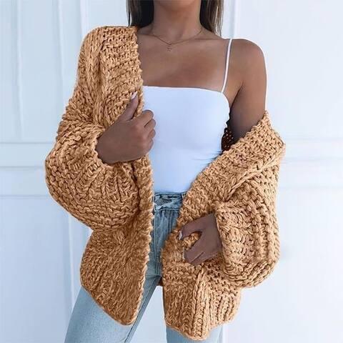 Women Fashion Cardigan Sweater Casual Cardigan Warm Jacket
