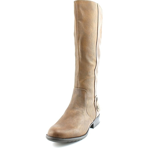 Life Stride Xandy Women Round Toe Leather Brown Knee High Boot