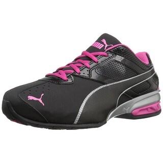 PUMA Women's Tazon 6 Wn's Fm Cross-Trainer Shoe, Puma Black/ Puma Silver/ Beetroot Purple